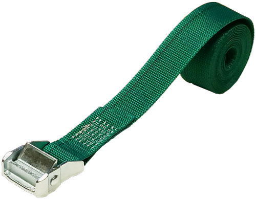 1.5 INCH CINCH STRAP 8 FT GREEN